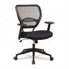 SPACE Air Grid Mid-Back Swivel Chair, Black, 20-1/2 x 19-1/2 x 42h