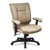 Office Star 93 Series Executive Leather Mid-Back Swivel/Tilt Chair, Tan