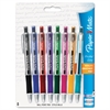 Paper Mate Profile Elite Retractable Ballpoint Pen, Assorted Ink, Bold, 8 per Pack