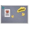 Quartet Vinyl Tack Bulletin Board, 72 x 48, Wedgewood Blue, Anodized Aluminum Frame