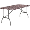 Flash Furniture 30''W x 60''L Bi-Fold Camouflage Plastic Folding Table