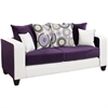 Flash Furniture Riverstone Implosion Purple Velvet Sofa