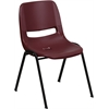 Flash Furniture HERCULES Series 880 lb. Capacity Burgundy Ergonomic Shell Stack Chair
