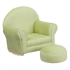 Flash Furniture Kids Green Microfiber Rocker Chair and Footrest