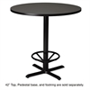 Mayline Cast Iron Foot Ring for Bistro Table, 18 inch Diameter, Black