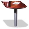 COMPANY Corsica Series Peninsula Desk, Veneer, 60w x 30d x 29-1/2h, Sierra Cherry/Black