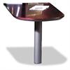 Corsica Series Peninsula Desk, Veneer, 60w x 30d x 29-1/2h, Mahogany/Black