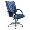 COMPANY Mercado Series President Chair with Chrome Base, Black Leather