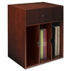 Mayline Sorrento Vertical Hutch Organizer, 17½w x 12½d x 19¾h, Bourbon Cherry
