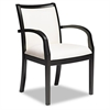 Mercado Series Ladder-Back Wood Guest Chair, Espresso Finish, Cream Leather