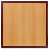 24'' Square 2-Tone High-Gloss Cherry / Mahogany Resin Table Top with 2'' Thick Drop-Lip