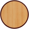 36'' Round 2-Tone High-Gloss Cherry / Mahogany Resin Table Top with 2'' Thick Drop-Lip