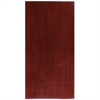 30'' x 60'' High-Gloss Mahogany Resin Table Top with 2'' Thick Drop-Lip