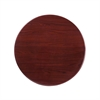 30'' Round High-Gloss Mahogany Resin Table Top with 2'' Thick Drop-Lip