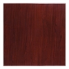 36'' Square High-Gloss Mahogany Resin Table Top with 2'' Thick Drop-Lip