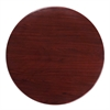 36'' Round High-Gloss Mahogany Resin Table Top with 2'' Thick Drop-Lip