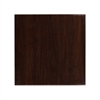 30'' Square High-Gloss Walnut Resin Table Top with 2'' Thick Drop-Lip