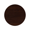 30'' Round High-Gloss Walnut Resin Table Top with 2'' Thick Drop-Lip