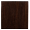 36'' Square High-Gloss Walnut Resin Table Top with 2'' Thick Drop-Lip