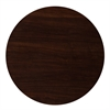 36'' Round High-Gloss Walnut Resin Table Top with 2'' Thick Drop-Lip