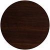 48'' Round Resin Walnut Table Top