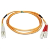 N316-02M 2M 6ft Duplex MMF 62.5/125 Patch Cable LC/SC, 6'