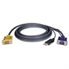 Tripp Lite P776-010 10ft KVM Switch USB 2-in-1 Cable Kit, 10'