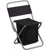 Flash Furniture Folding Camping Chair with Insulated Storage in Black