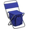 Flash Furniture Folding Camping Chair with Insulated Storage in Blue