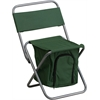 Flash Furniture Folding Camping Chair with Insulated Storage in Green