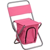 Flash Furniture Folding Camping Chair with Insulated Storage in Pink