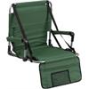 Flash Furniture Folding Stadium Chair in Green