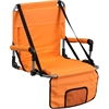 Flash Furniture Folding Stadium Chair in Orange