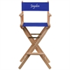 Flash Furniture Personalized Bar Height Directors Chair in Blue