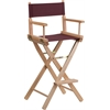Flash Furniture Bar Height Directors Chair in Brown