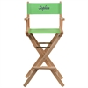 Flash Furniture Personalized Bar Height Directors Chair in Green
