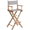 Flash Furniture Bar Height Directors Chair in Gray