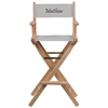 Flash Furniture Personalized Bar Height Directors Chair in Gray
