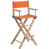 Bar Height Directors Chair in Orange