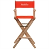 Flash Furniture Personalized Bar Height Directors Chair in Red