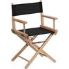 Flash Furniture Standard Height Directors Chair in Black