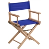 Flash Furniture Standard Height Directors Chair in Blue