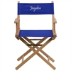 Personalized Standard Height Directors Chair in Blue