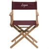 Flash Furniture Personalized Standard Height Directors Chair in Brown