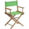 Flash Furniture Standard Height Directors Chair in Green
