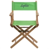 Flash Furniture Personalized Standard Height Directors Chair in Green
