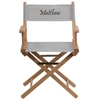 Flash Furniture Personalized Standard Height Directors Chair in Gray