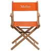 Personalized Standard Height Directors Chair in Orange