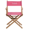 Personalized Standard Height Directors Chair in Pink
