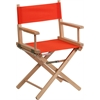 Flash Furniture Standard Height Directors Chair in Red